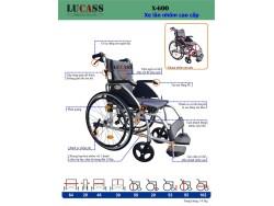 Xe lăn cao cấp Lucass X-600