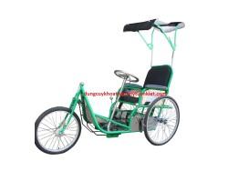 Xe lắc 3 bánh dành cho người khuyết tật có mái che
